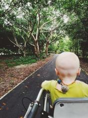 Rullējam pa parku